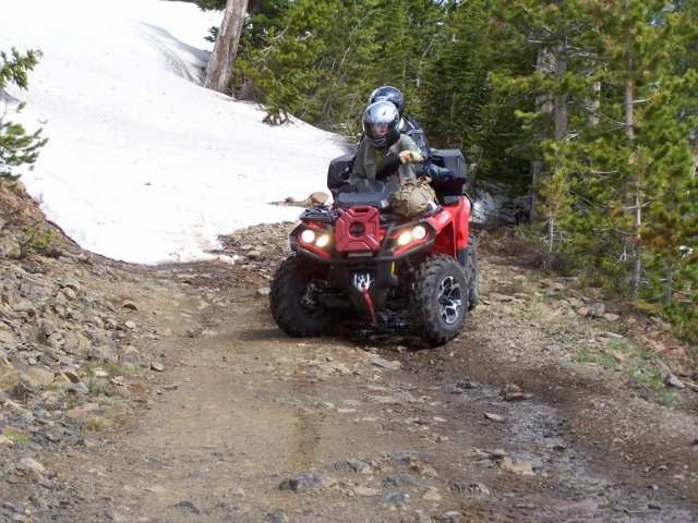 Benbow Road ATV Ride Snow Section