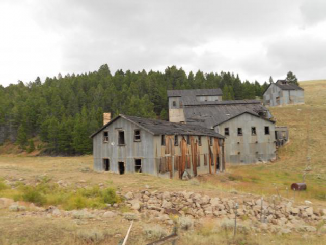 Radersburg OHV Area Old Buildings