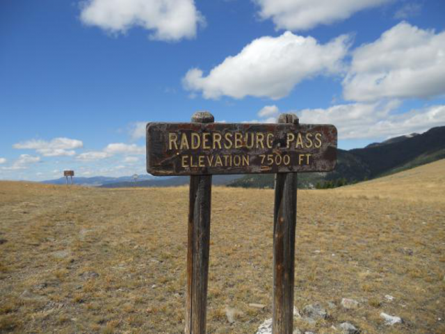 Radersburg Sign On The Pass