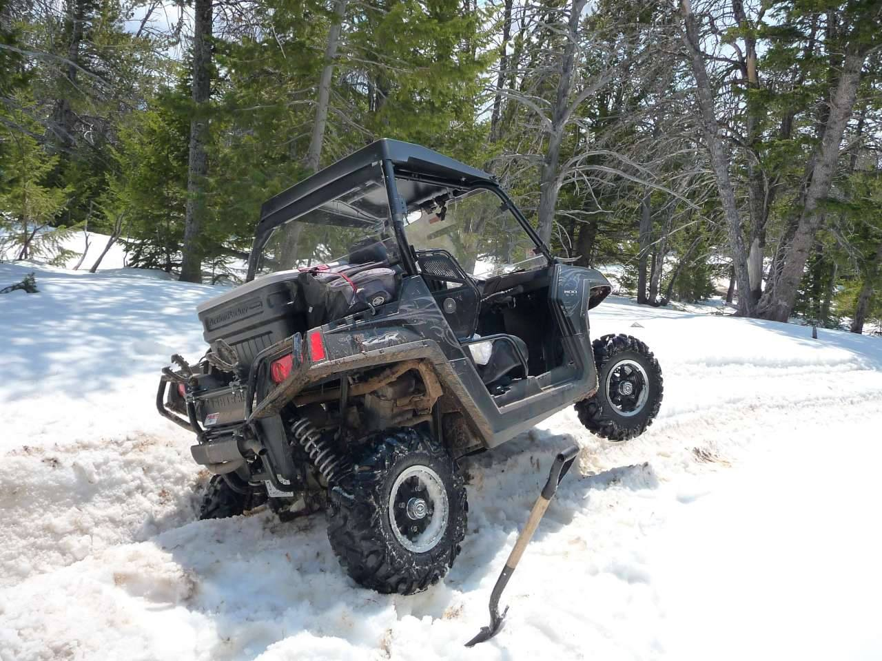 Snow on Trails can be Challenging Sections in the Spring Time