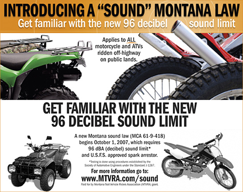 96 Decibel Sound Limit Spark Arrestor Montana 2007 MCA 61 9 418