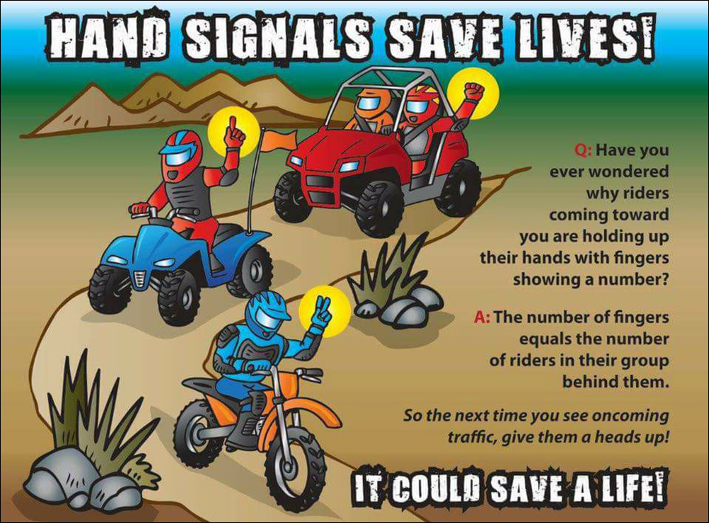 OHV Trail Safety Hand Signals TSVA